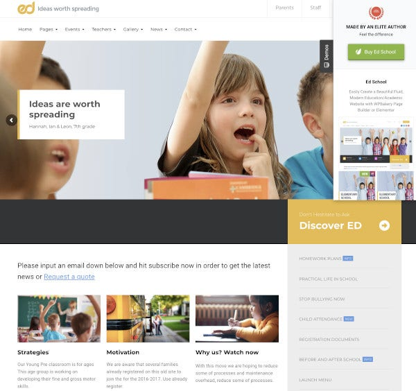 school education wordpress website theme