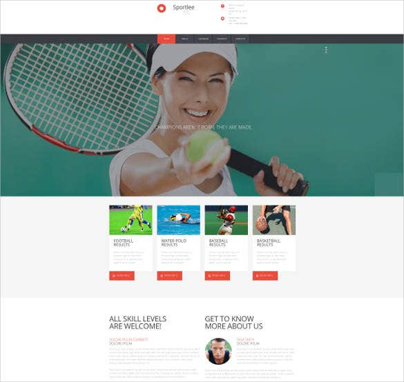 school-sports-website-template