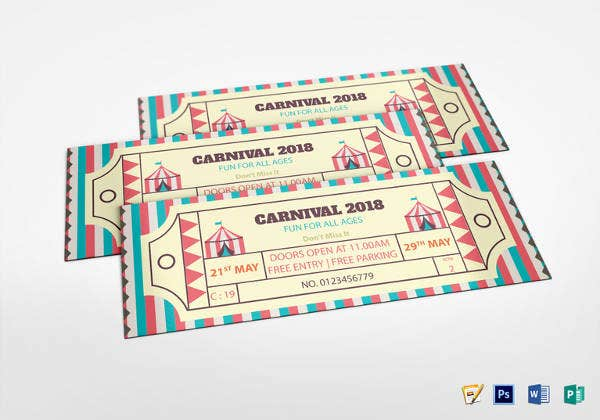 simple carnival ticket design