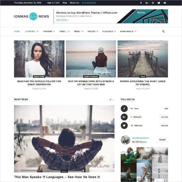 social-media-news-magazine-website-theme