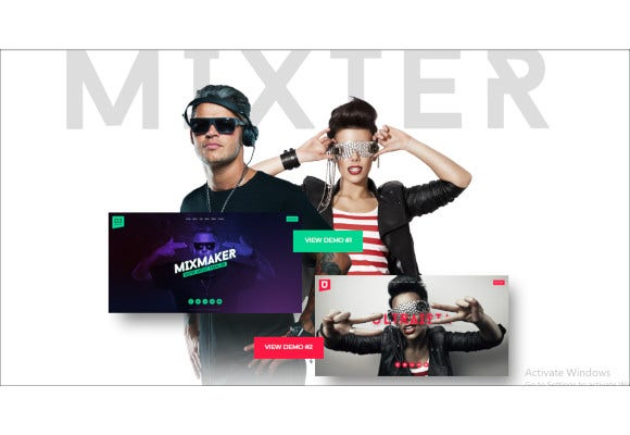 ultimate dj musician band website template