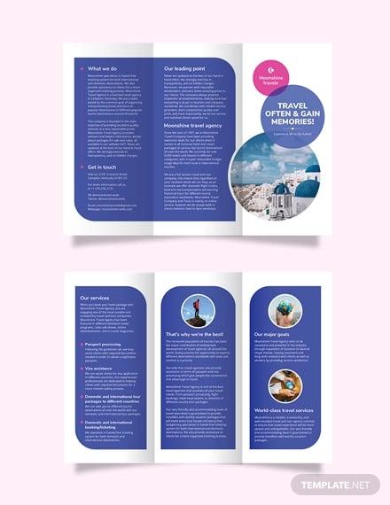 vacation tri fold brochure template