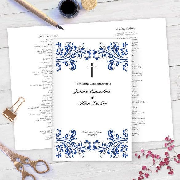 wedding card template with jesus1