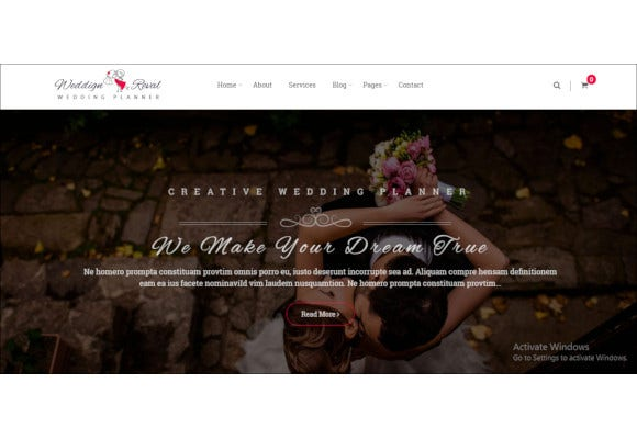 wedding planner agency wordpress theme