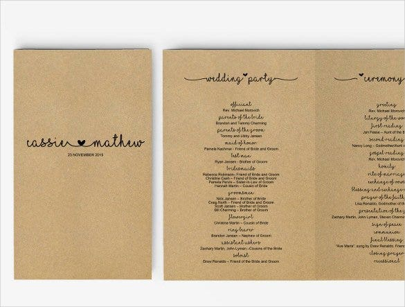 wedding program template instant download1
