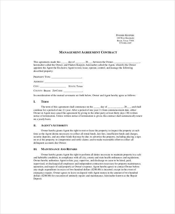 contract template management