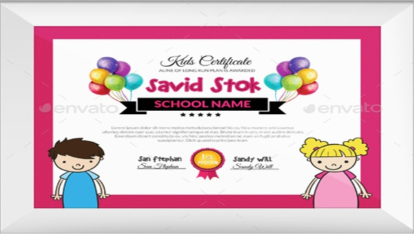 baby certificate