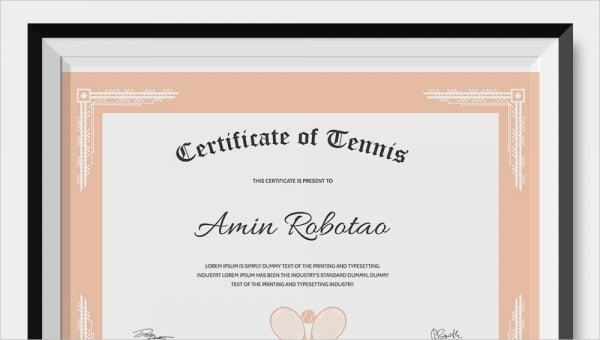tenniscertificatetemplate