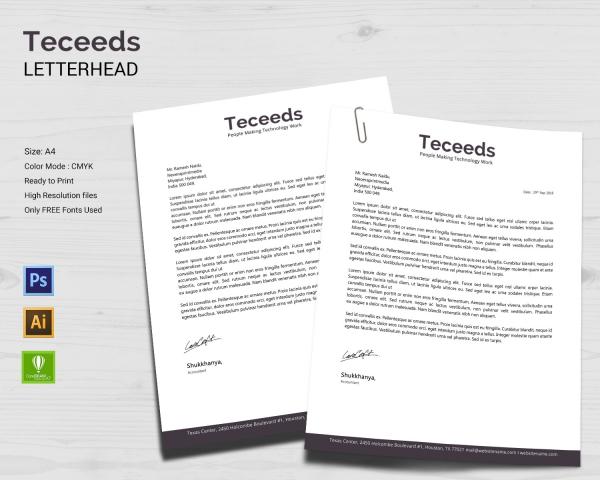 startup business letterhead