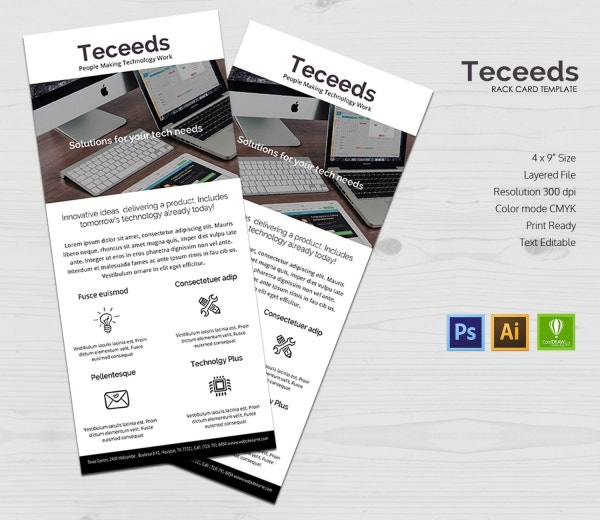 startup business rack card template