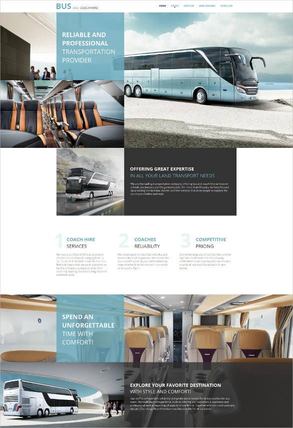 transportation moto cms html5 template