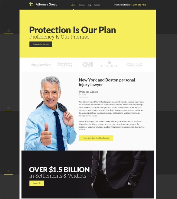 law firm responsive website html5 template