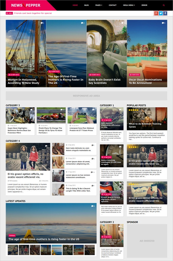 news magazine html5 template