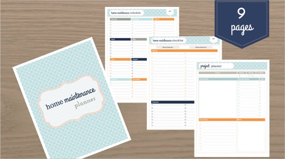 home maintenance checklist template download