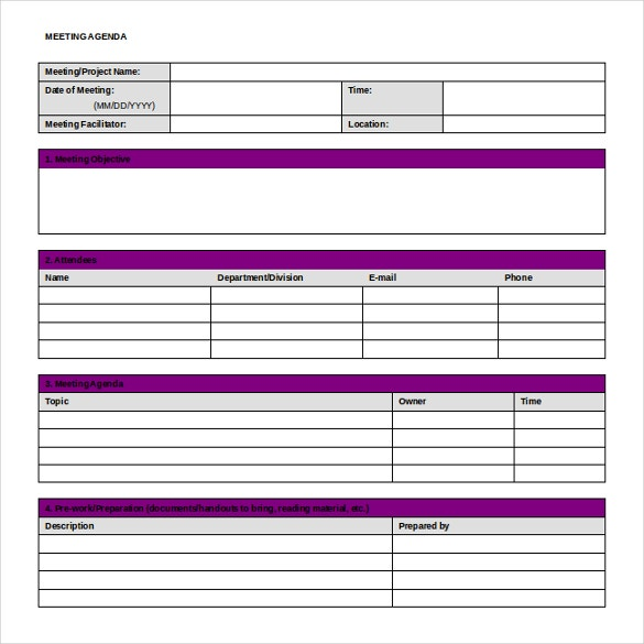 Project Meeting Minutes Template Word Format Free Download  Free Word Templates 2010