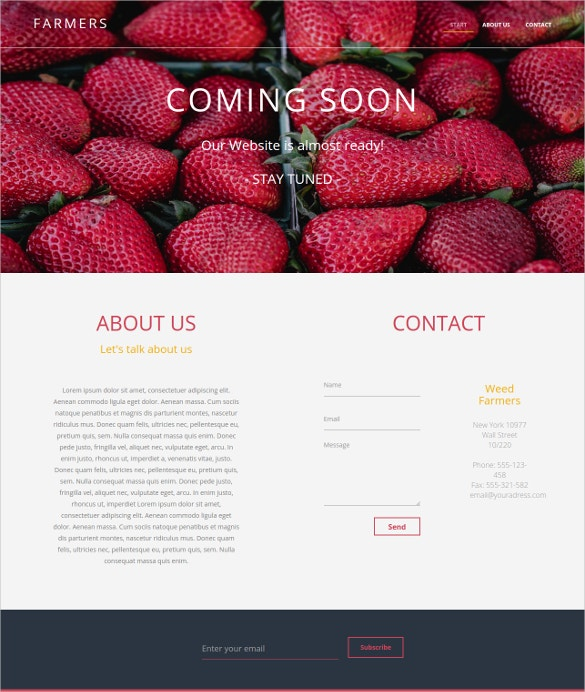 farmers html5 website template1