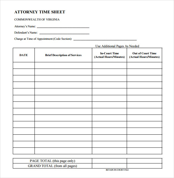10+ Legal And Lawyer Timesheet Templates – Free Sample, Example