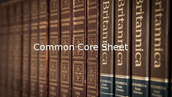 commoncoresheet