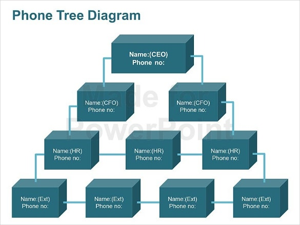 Printable Phone Tree Template   Free Word Excel Pdf Format