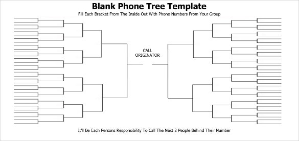 printable phone tree template  u2013 15  free word  excel  pdf