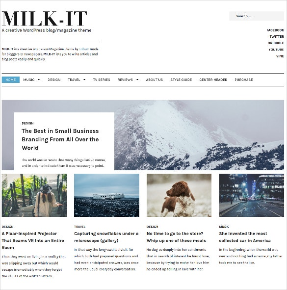 beautiful wordpress blog magazine template 49