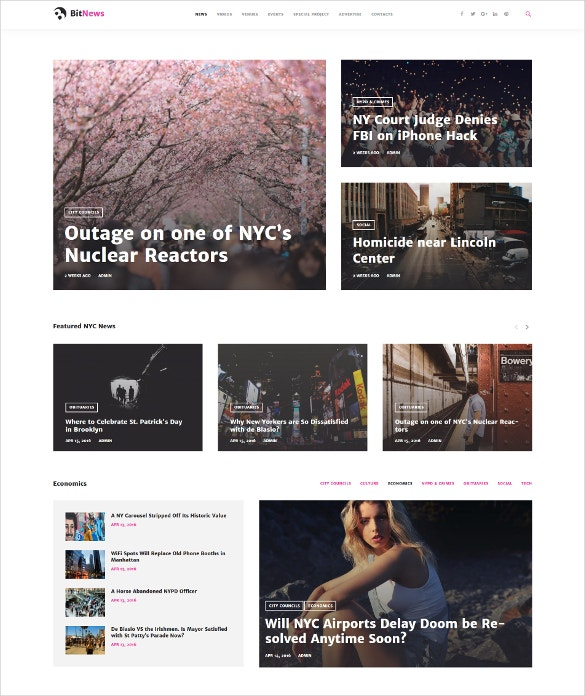 city portal magazine wordpress blog theme