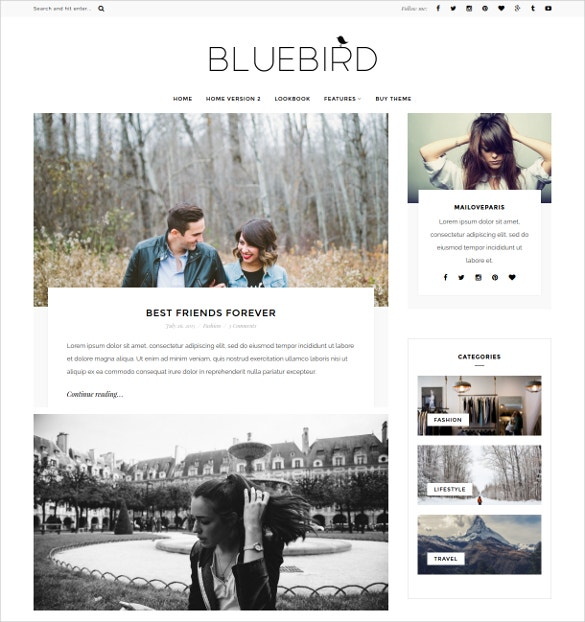 minimal beauty wordpress blog template 29