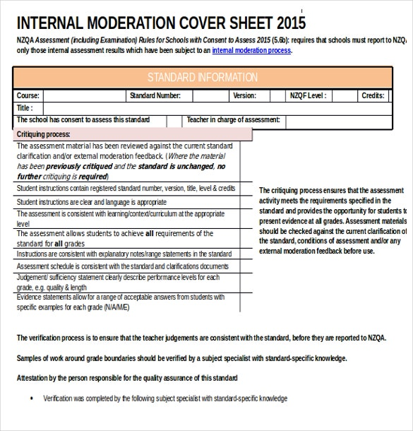 internal modernization cover sheet word format download