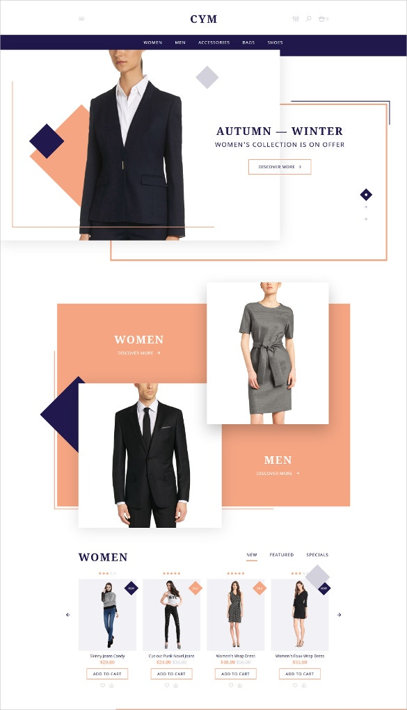 urban clothing opencart blog template