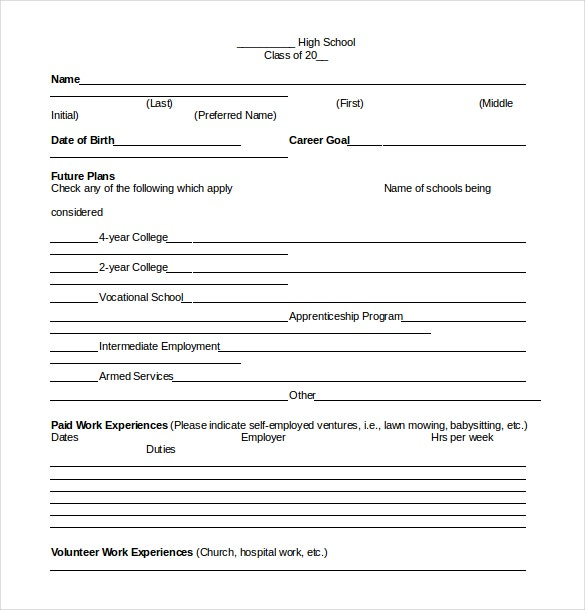 senior brag common core sheet word document download