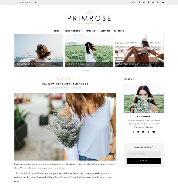 clean minimal beauty wordpress blog template 29