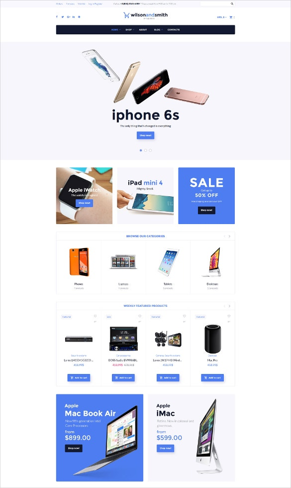 electronics woocommerce blog theme