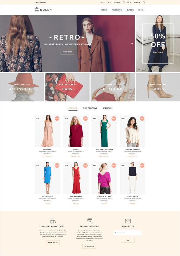 womens clothes prestashop blog theme