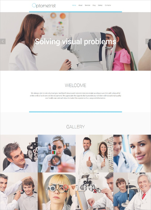 optometrists responsive moto cms 3 blog template1