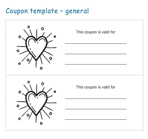 General Coupon Template Free Download  Blank Coupons Templates