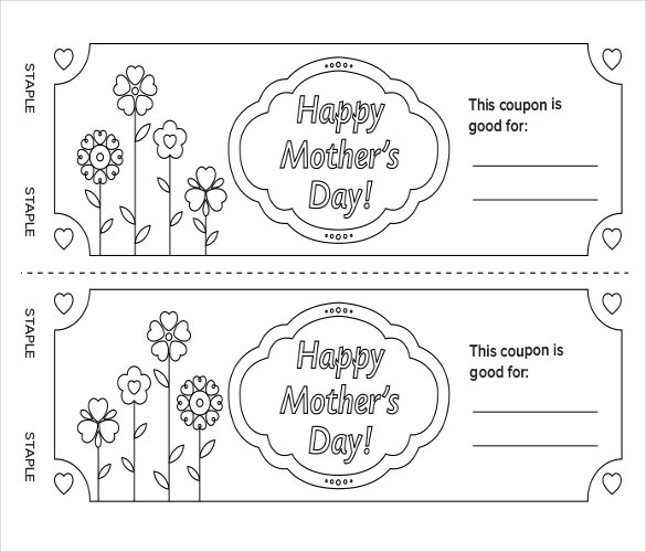 mothers day coupon book pdf template