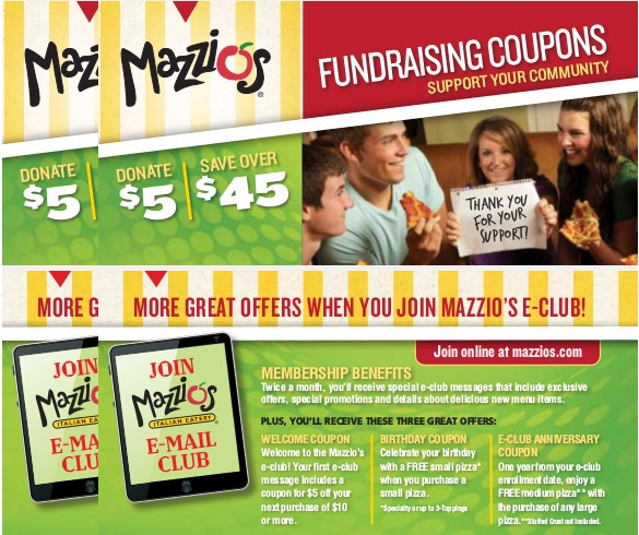 sample fundraising coupon template