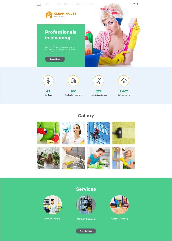 cleaning company joomla blog template