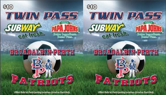 sports fundraising coupan pdf template