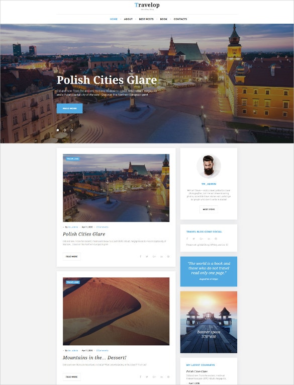 traveling blog wordpress theme