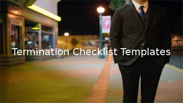 featured image termination checklist template
