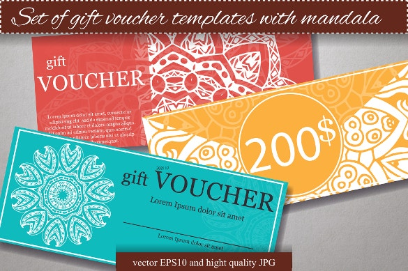 psd format set of gift voucher templates