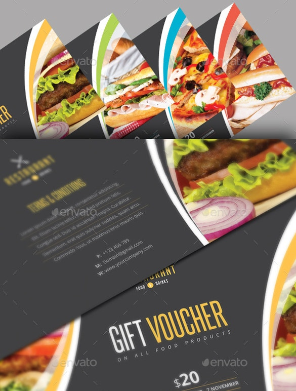 restaurant gift coupon template premium download