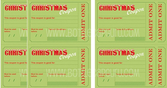 mostly download christmas coupon template psd