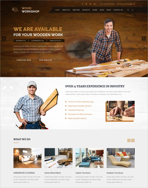 carpenter craftman html blog template