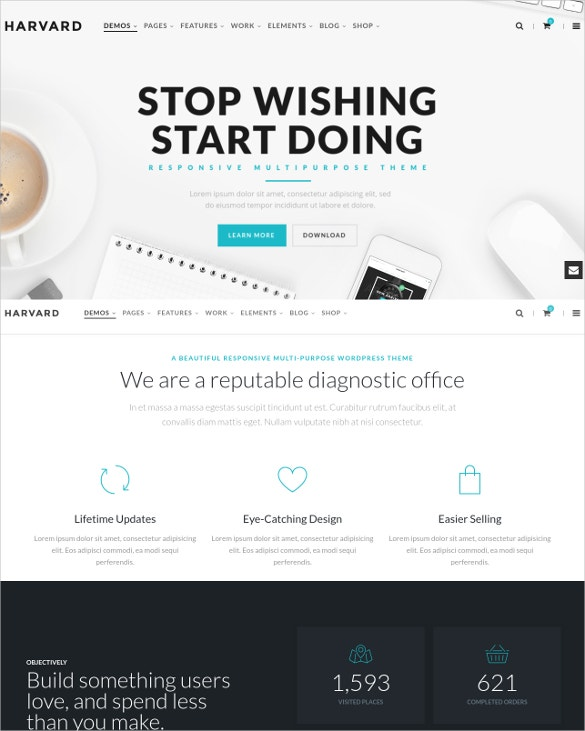 responsive multi purpose corporate blog theme