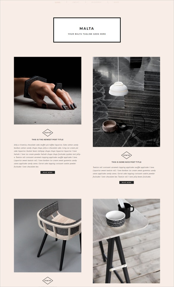 modern fashion blogger template