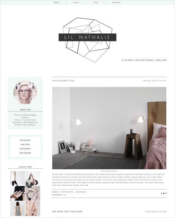 hipster chic blog template