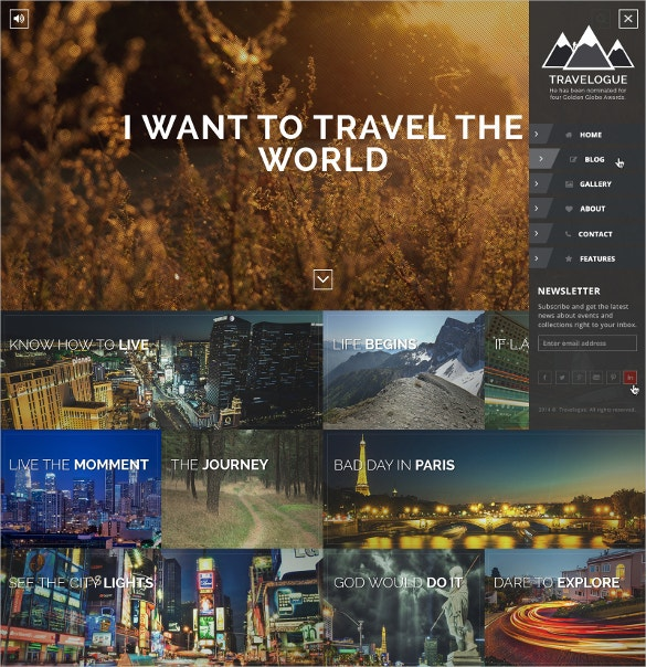 creative travel blog wordpress theme 44