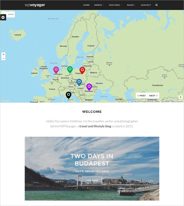 tourism travel blog wordpress template 54
